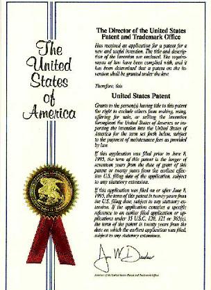 Sertifikat Hak Paten USA